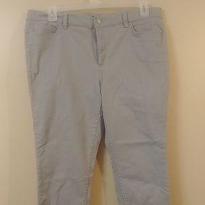Gray Ann Taylor Jeans